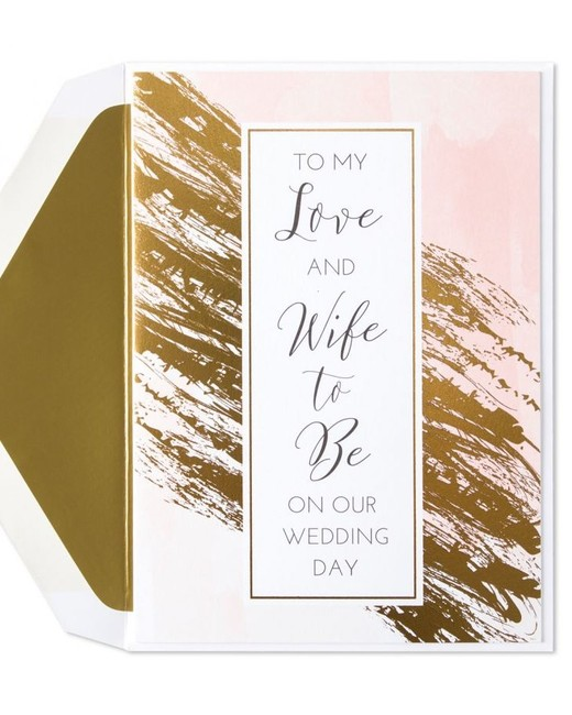 """Wife to Be"" Greeting Card"