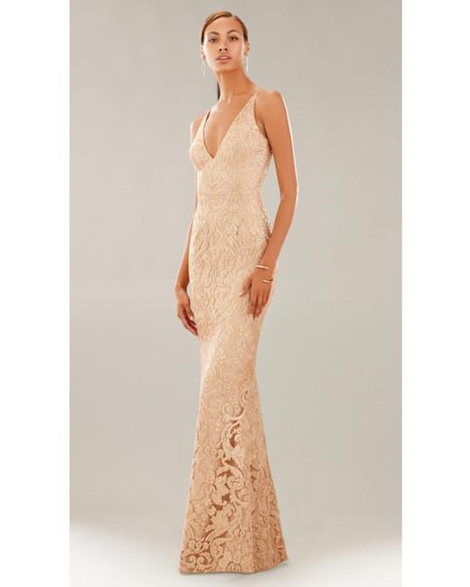 beige neutral bridesmaid dresses dress the population karen
