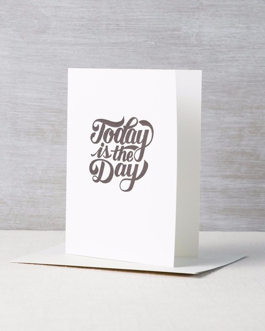 """Today is the Day"" Tattly Card"