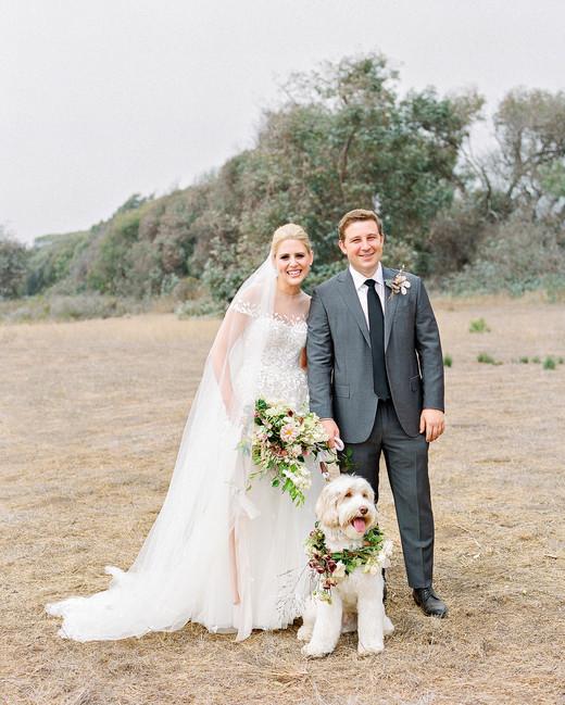 Emma mike California wedding Corbin gurkin couple dog