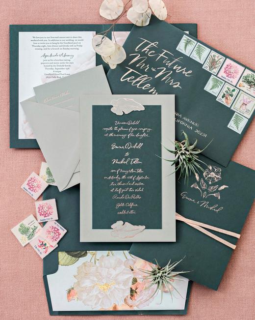 Emma mike California wedding Corbin gurkin invitations