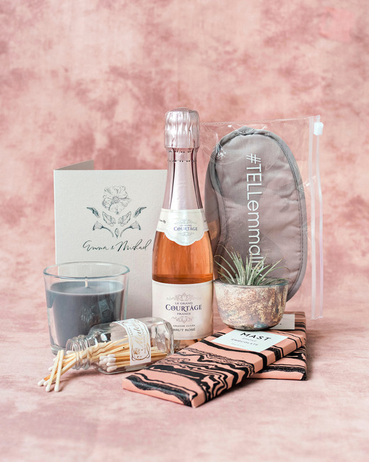 Emma mike California wedding Corbin gurkin welcome bag