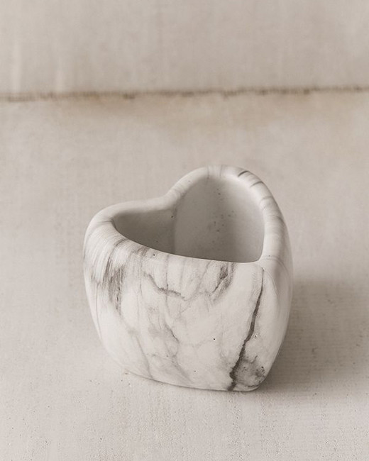 Urban Outfitters Mini Marbled Heart Planter