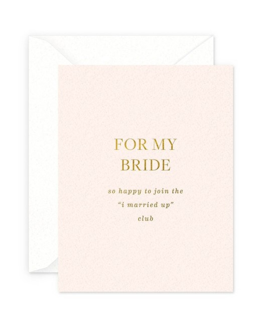 """For My Bride"" Greeting Card"