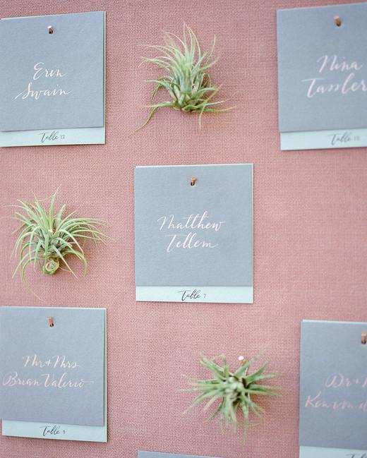 Emma mike California wedding Corbin gurkin escort cards