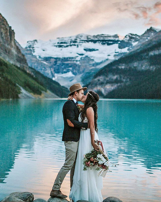 epic elopement locations lake louise canada