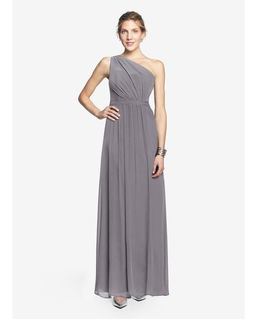 grey silver bridesmaid dresses gather and gown allison dress