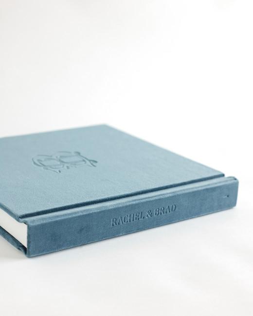 wedding photo albums blue hardback custom name