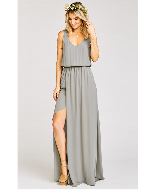 grey silver bridesmaid dresses show me your mumu kendall dress