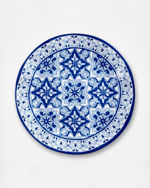 zola q squared talavera melamine dinner plates