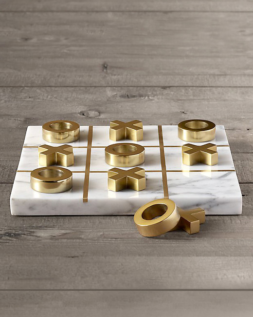 Restoration Hardware Marble Tic-Tac-Toe Game
