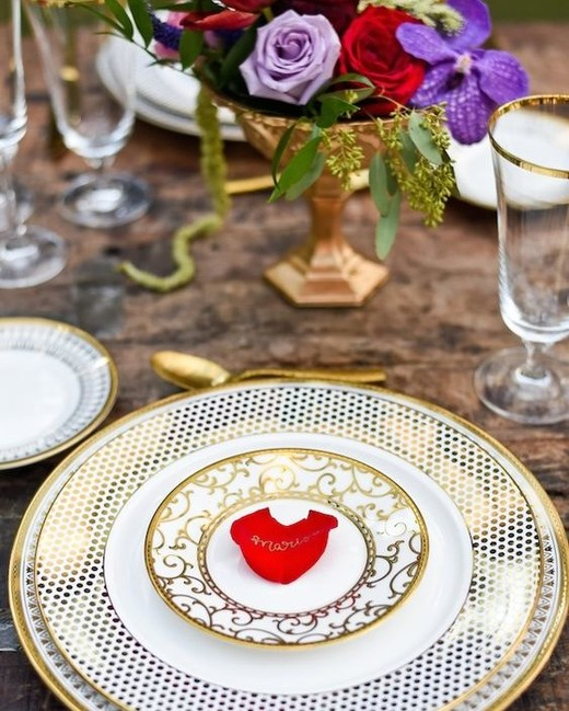 Beauty and the Beast theme place settings