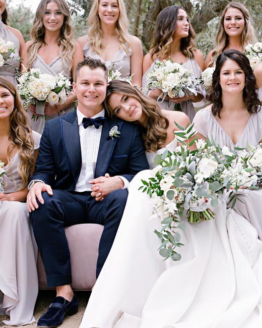 kelsey joc wedding santa barbara california groom and bridesmaids