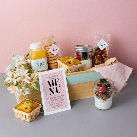 breakfast box various breakfast items
