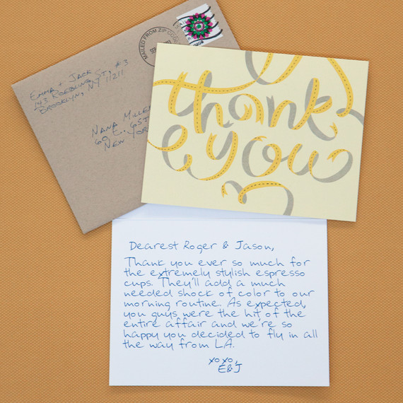 Related Tips for Writing Thank-You Notes for Wedding Gifts  sc 1 st  Martha Stewart Weddings & Hereu0027s What to Do If a Guest Doesnu0027t Give a Wedding Gift | Martha ...