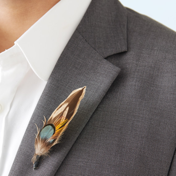 Feather Boutonniere Martha Stewart Weddings