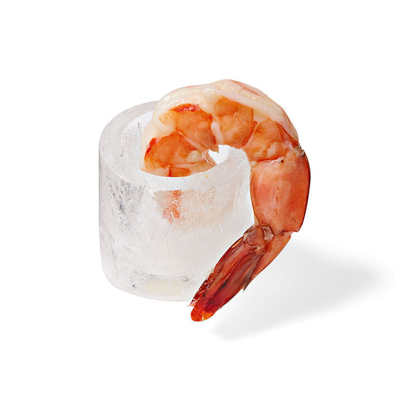 ice shot glass with shrimp