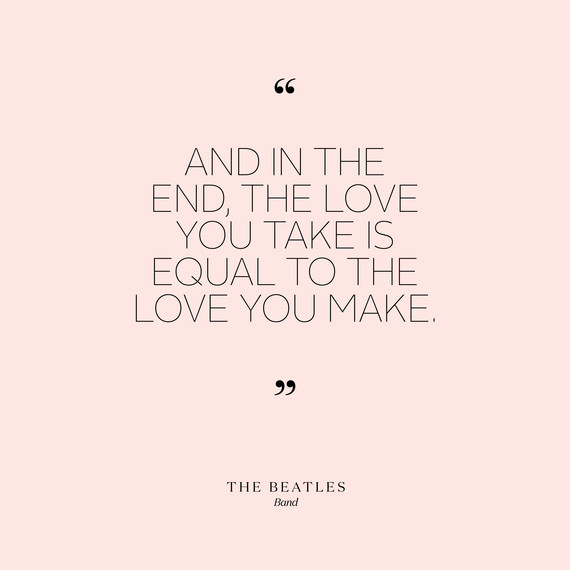 Image of: Empathy Lovequotesbeatles0715jpg Smore 90 Short And Sweet Love Quotes That Will Speak Volumes At Your