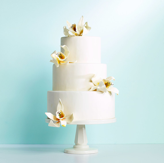 orchid tiered cake