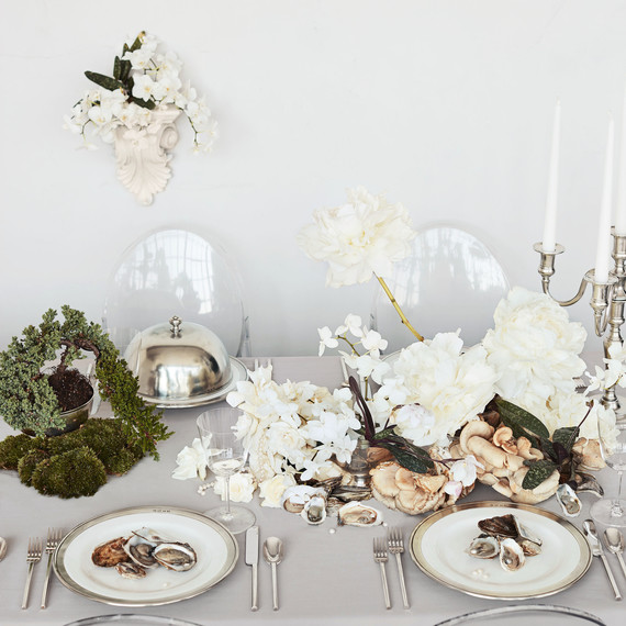 white place settings