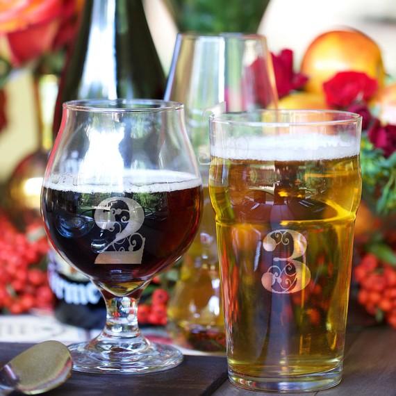 beer garden etched glass