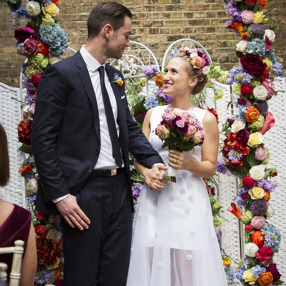 British designer Sophia Webster on her wedding day