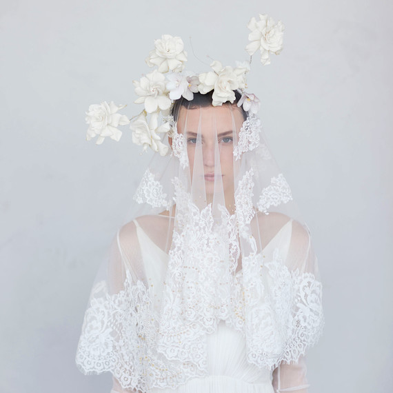 flower lace headpiece