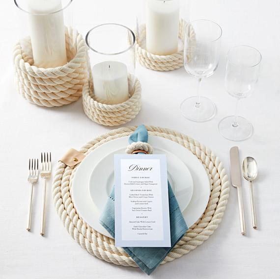 nautical themed table setting