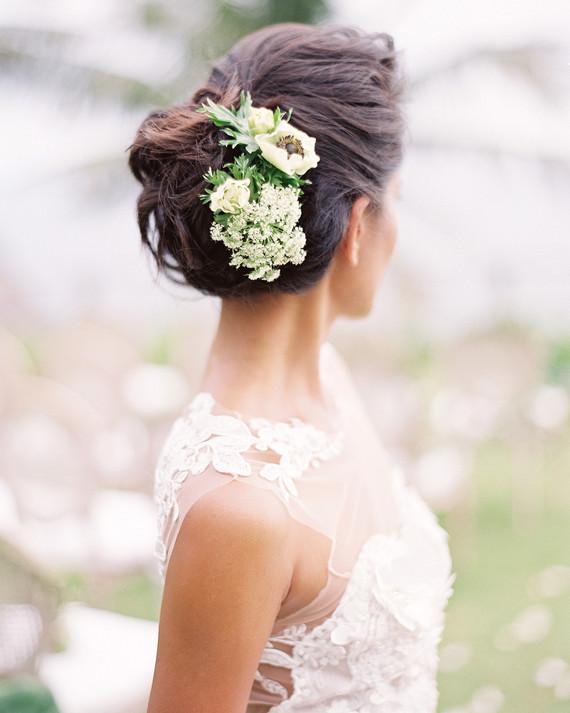 Martha stewart weddings wedding planning ideas inspiration the prettiest wedding hairstyles with flowers maxwellsz