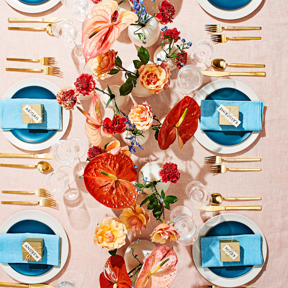 large floral tablescape