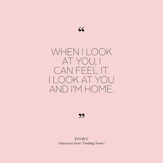 Image of: Positive Lovequotesdoryfindingnemo0715jpg Martha Stewart Weddings 90 Short And Sweet Love Quotes That Will Speak Volumes At Your