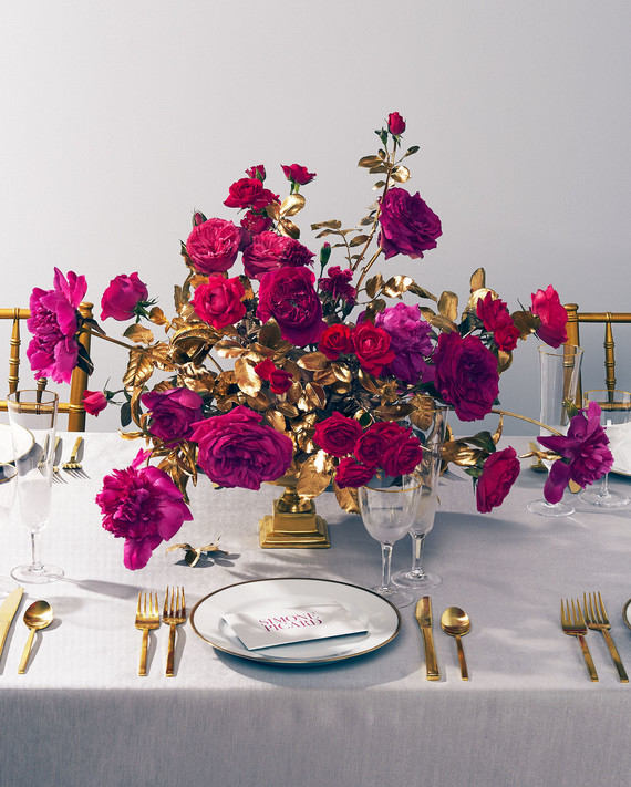 Your New Favorite Wedding Color Palette: Gold & Magenta