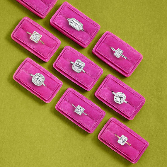 square cut wedding rings