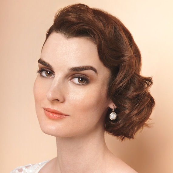 Old Hollywood Waves Short Wedding Hairstyle Martha