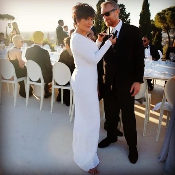 Kris Jenner at Kim and Kanye's Wedding