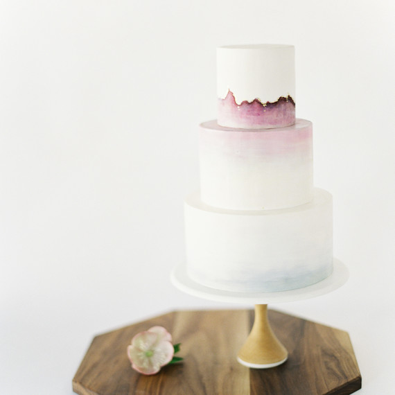 Watercolor Wedding Cake, Fall Wedding Cake Trends