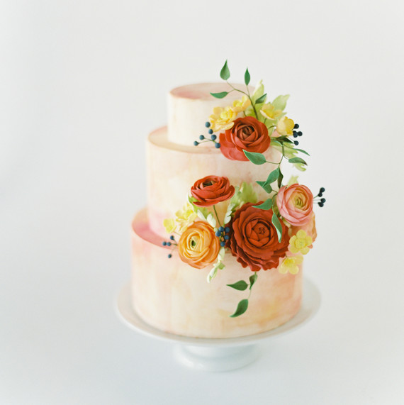 Colorful, Sunset-Inspired Wedding Cake, Fall Cake trends