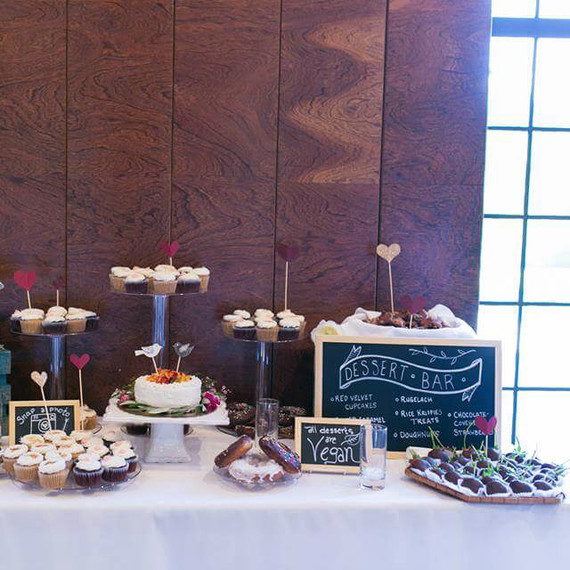 peta vegan wedding dessert bar