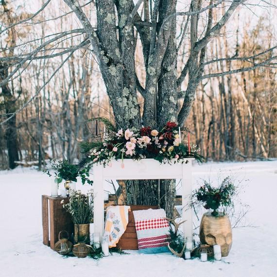 snowy winter display