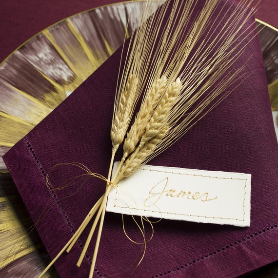 DIY Gold Leaf Place Card Final