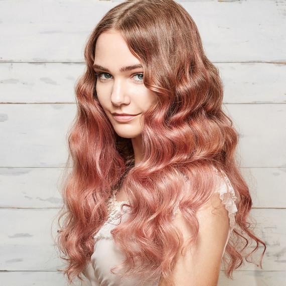 model millennial pink hair