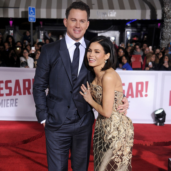 Channing Tatum and Jenna Dewan Tatum red carpet