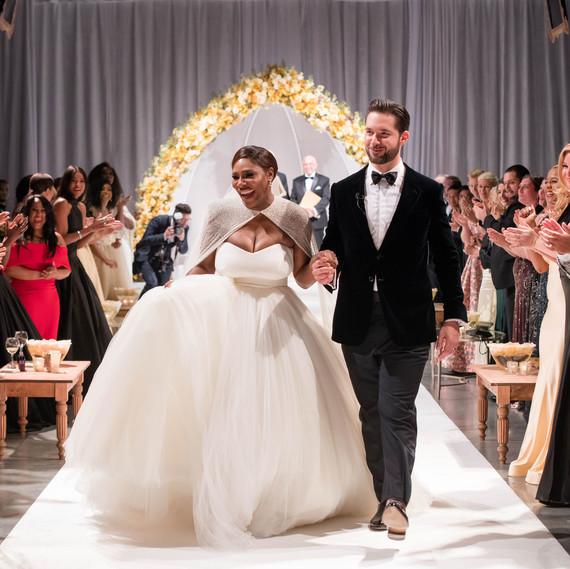 Serena Williams's Custom Wedding Dress Will Make You Believe in Fairytales Again
