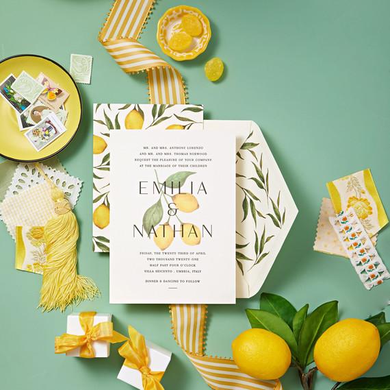 vivid yellow palette lemons