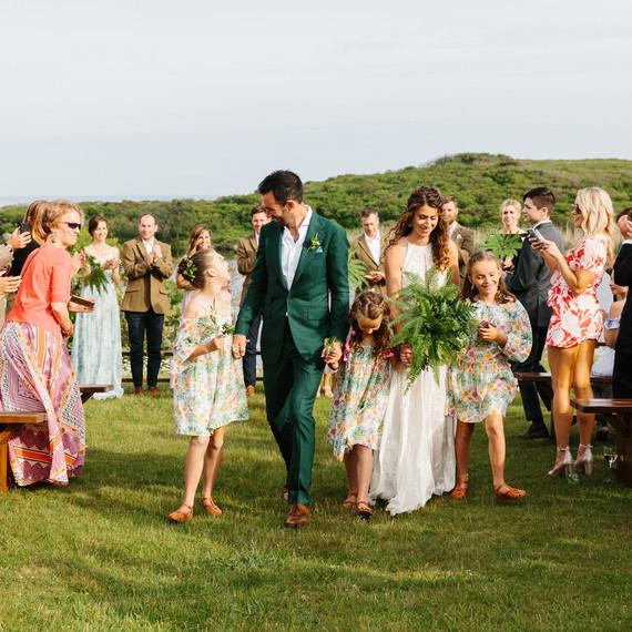 molly ed wedding recessional family bride groom daughters