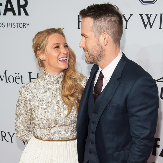 Blake Lively and Ryan Reynolds Laughing