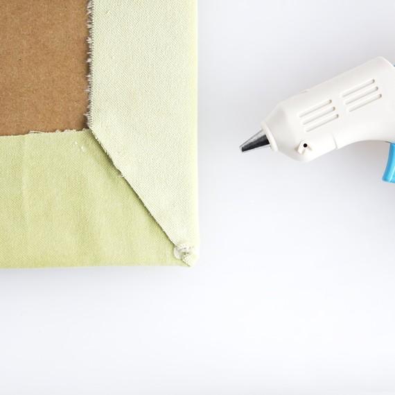 Pull fabric snug step