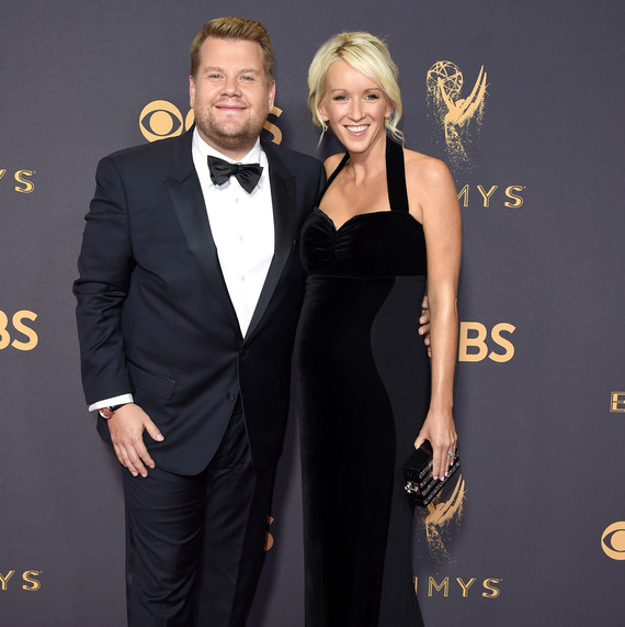James Corden and Julia Carey Emmys 2017