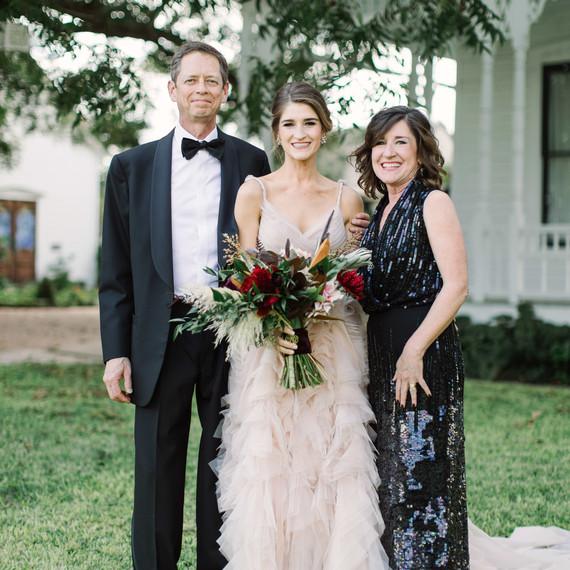 wedding family bride mom dad