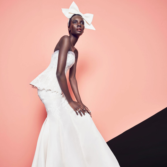 Monique Lhuillier faithful gown with bow
